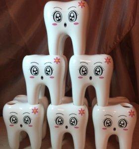 Подставка для зубных щёток Зубик и крючок в ванную
