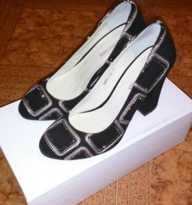 Туфли замшевые 36-37 размер