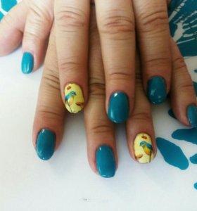 Нарашивание ногтей,аппаратный маникюр,гель лак