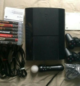 Sony PS3 + move + dualshock(X2) + games