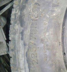 Резина 225*75 16 стояла на уаз
