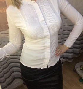Блуза рубашка офисная белая