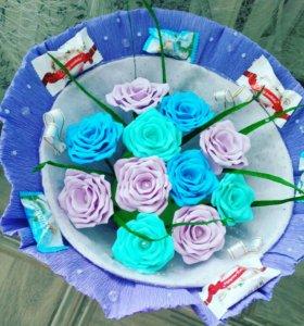 Букеты из конфет и фома