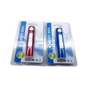 USB зажигалка, заряжается от сети