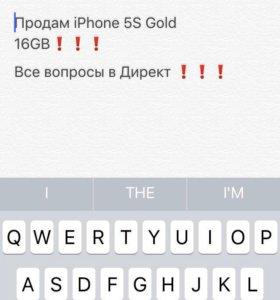 Продам Айфон 5s gold 16 gb