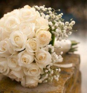 Составление свадебных букетов,бутоньерок.