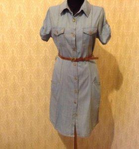 Джинсовые платья и джинсовая юбка
