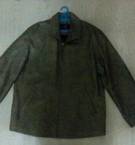 Кожаная мужская куртка.56 размер