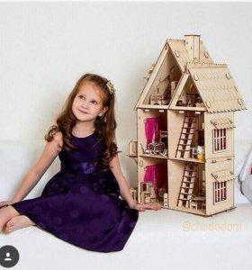 Деревчнный кукольный дом