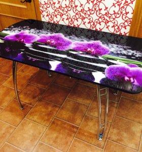 Стол раздвижной фиолет..