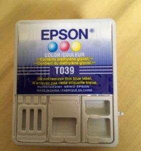Цветной картридж Epson T039