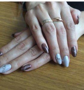 Гелевое покрытие ногтей,выравнивание ногт пластины