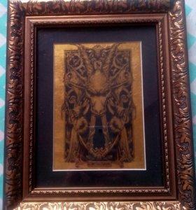 Картина из сусального золота
