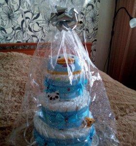 Торт в НАЛИЧИИ из подгузников GOON