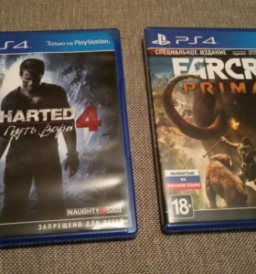 Uncharted 4 и FarCry Primal Ps4