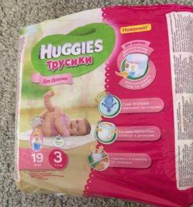 Huggies трусики для девочек 3