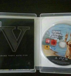 Диск GTA V для Playstation 3 (PS3) . Идеал.