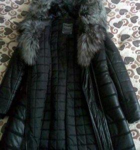 Зимняя куртка стеганая с мехом