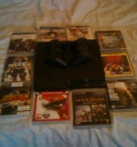 PS3 вместе 10 дисков