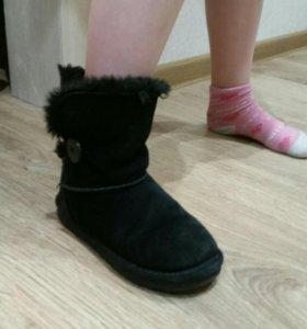 Зимние замшевые сарожки