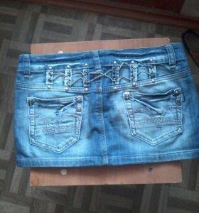Юбка джинсовая мини
