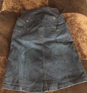Юбка для беременных джинсовая р44-46