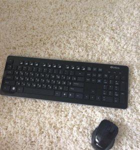 Беспроводная клавиатура + беспроводная мышь