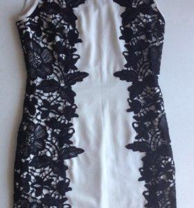 Платье бело-чёрное