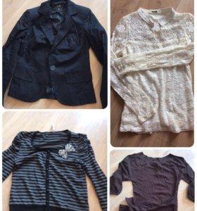 Пиджак кардиган блузка кофта
