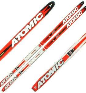 Лыжи atomic детские + крепления