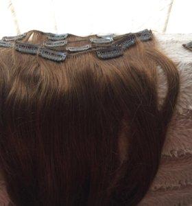 Волосы на заколках , трессы , натуральные