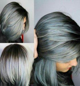 Серый,стальной цвет волос тренд 2017