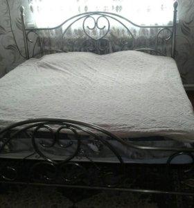 Кровать кованная