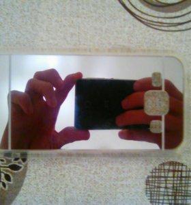Зеркальный чехол новый