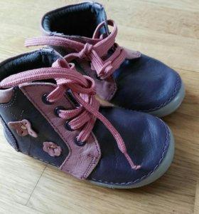 Новые ботинки, кожа