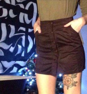 Идеальная велюровая юбка-карандаш