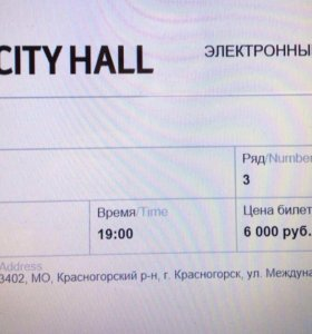 Два билета на концерт ДиДюЛи