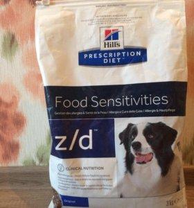 Корм hills z/d лечебный для собак