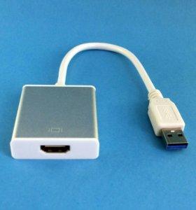 Видеокарта, видеовыход USB 3.0 HDMI 1080p