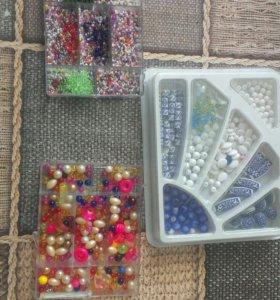 Набор для плетения браслетов бисер и бусины