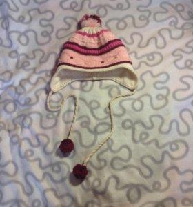 Зимняя детская шапочка для девочки