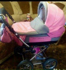 Прогулочная коляска Riko 2в1 для девочки