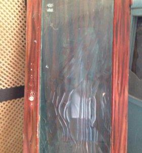 Дверь совдеповская со стеклом