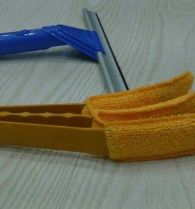 Щетка для чистки жалюзи и скребок для мытья окон