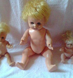 Куклы ссср 3шт