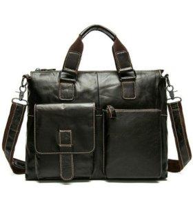 Мужская кожанная сумка(новая)