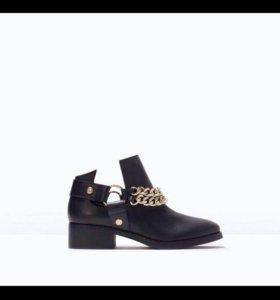 Новые кожаные ботинки ZARA 🔥