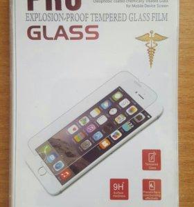 Защитные стекла для iPhone 6+, 7+