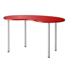 Стол IKEA красный хиссмон хромированные ножки