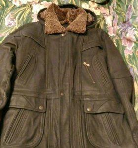 Куртка мужская кожаная р-р xxl ( примерно 56)